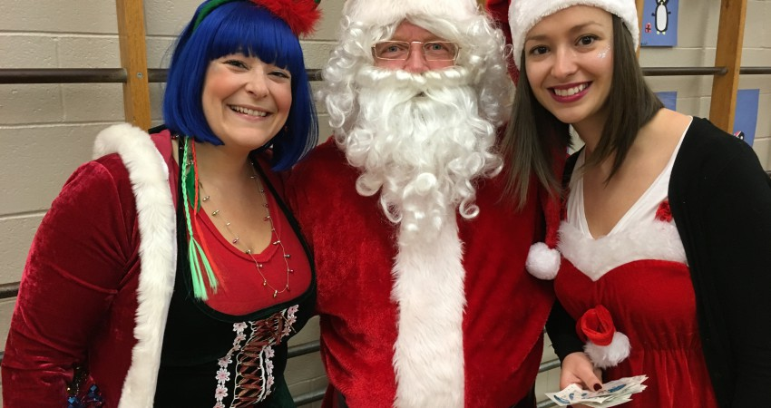 Santa and his Coast Capital Elves join us for pancakes