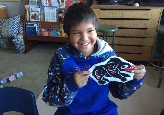 Aboriginal art in progress