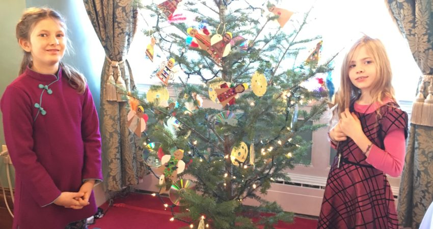 Tree decorating at Government House