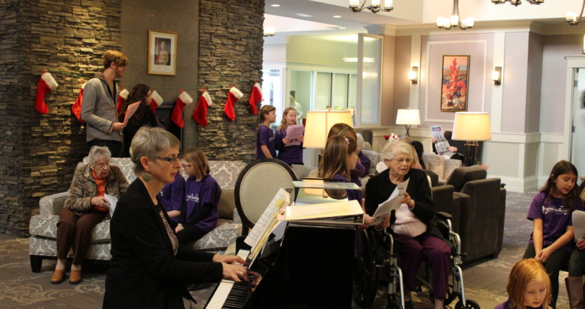 Choir and seniors from Ross Place