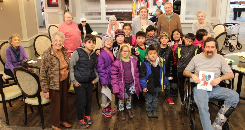 Quadra students visit Ross Place