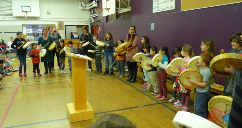 Drumming at assembly
