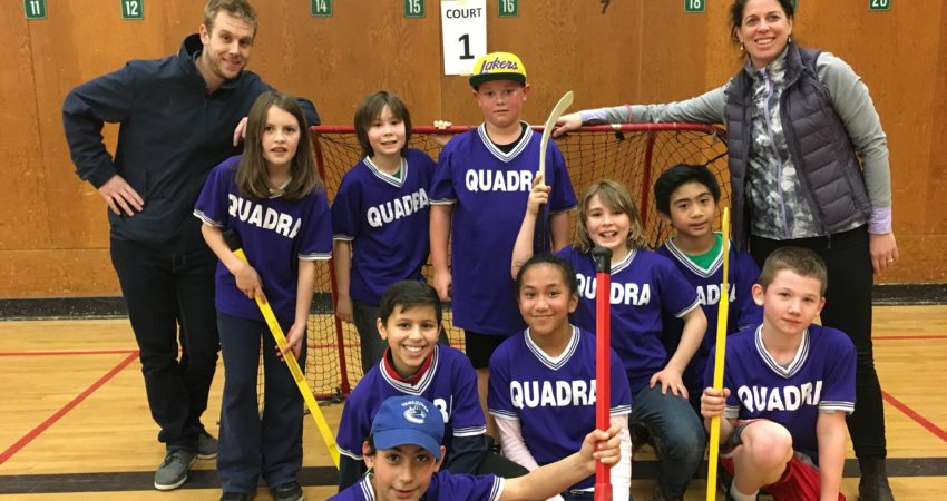 Playing with heart ~ Quadra's Jamboree Floor Hockey Team!